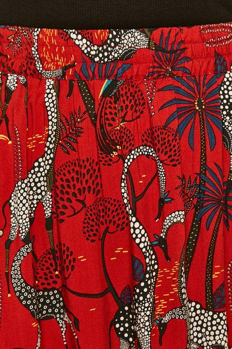 Spódnica damska wzorzysta czerwona