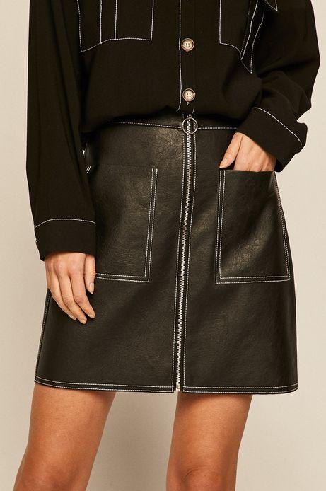 Spódnica damska z kieszeniami czarna