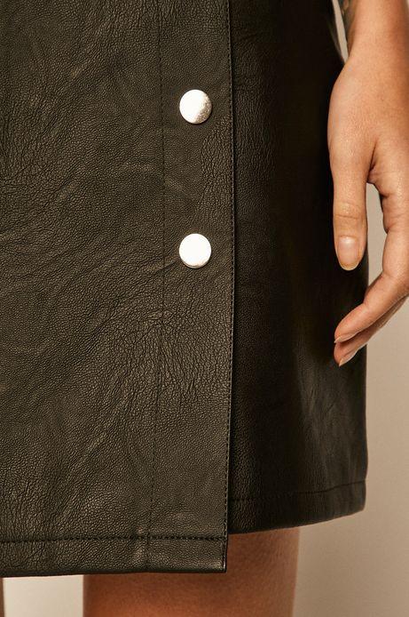 Spódnica damska z imitacji skóry czarna