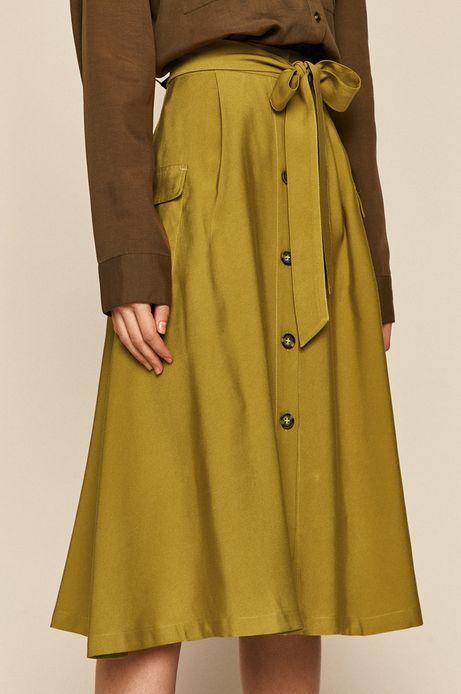Spódnica damska z guzikami zielona