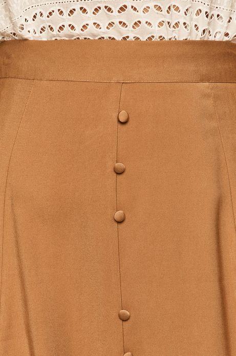 Spódnica damska z guzikami beżowa