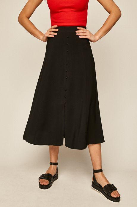 Spódnica damska z guzikami czarna