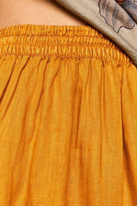 Spódnica damska lniana żółta