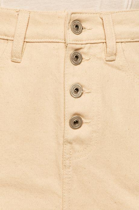 Spódnica jeansowa damska kremowa