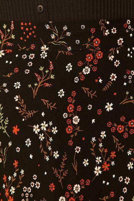 Spódnica damska w kwiaty czarna