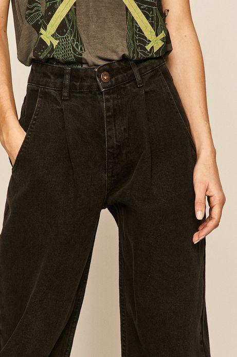 Jeansy damskie slouchy czarne