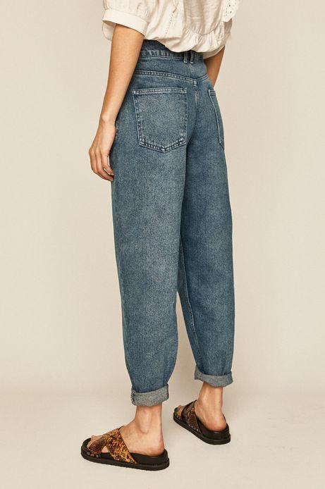 Jeansy damskie slouchy niebieskie