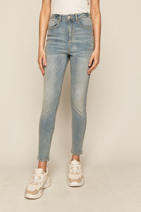 Jeansy damskie high waist niebieskie