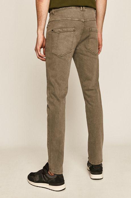 Jeansy męskie slim beżowe