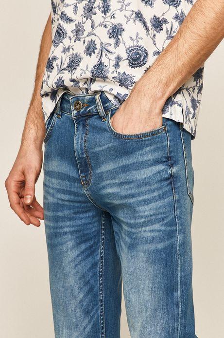 Jeansy męskie slim niebieskie