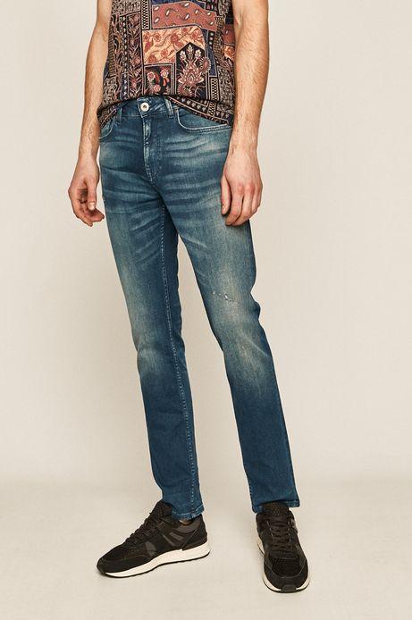 Jeansy męskie straight niebieskie