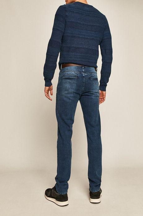 Jeansy męskie chino niebieskie