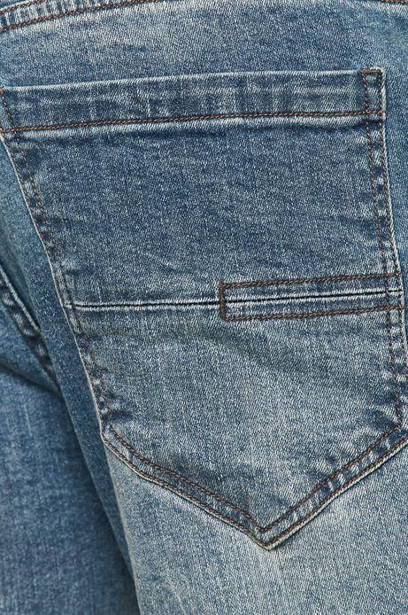 Jeansy męskie slim granatowe