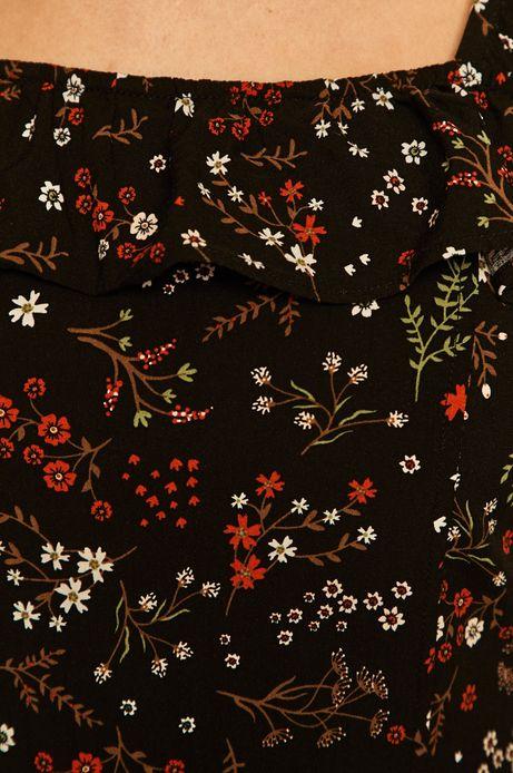 Kombinezon damski w kwiaty czarny
