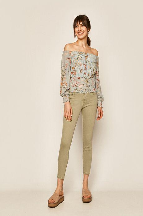 Spodnie damskie turkusowe