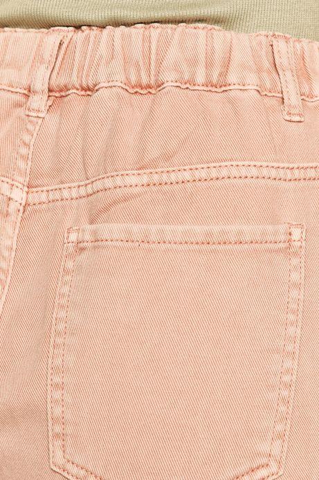 Spodnie damskie slouchy różowe