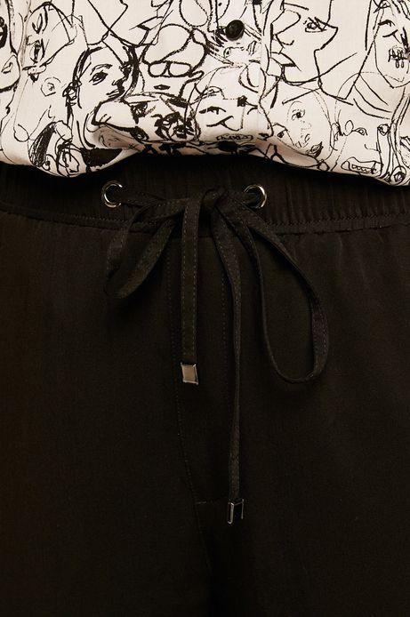 Spodnie damskie joggery z kieszeniami czarne
