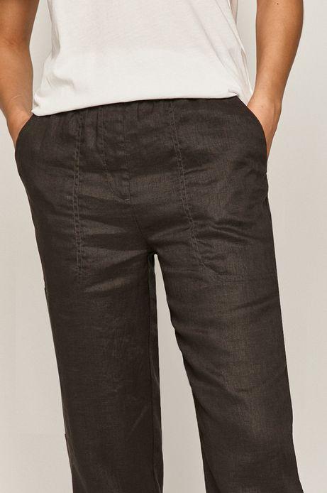 Spodnie damskie lniane szare