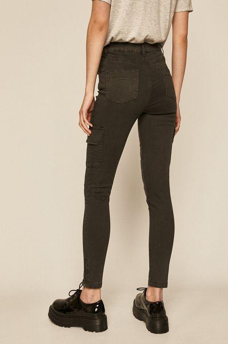 Spodnie damskie z kieszeniami cargo szare