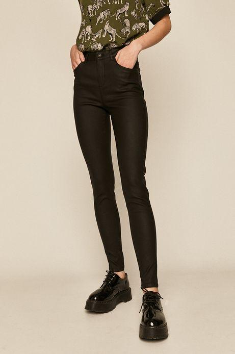 Spodnie damskie woskowane czarne