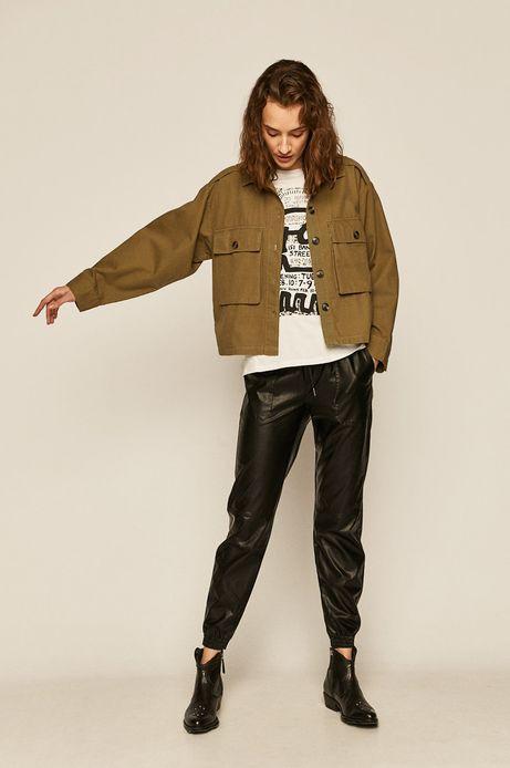 Spodnie damskie ze skóry ekologicznej czarne