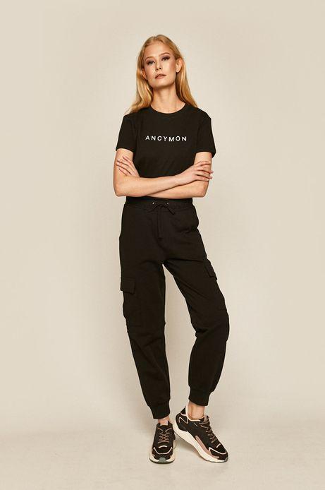 Spodnie damskie z kieszeniami czarne