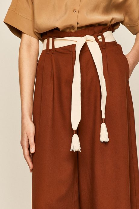 Spodnie damskie cullotes brązowe