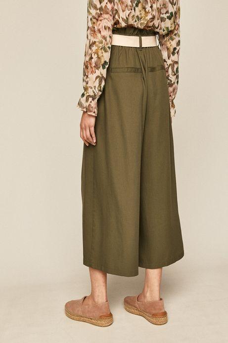 Spodnie damskie cullotes zielone