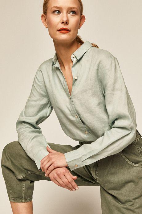 Spodnie damskie w fasonie slouchy zielone