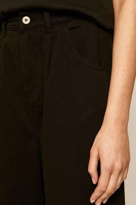 Spodnie damskie w fasonie slouchy czarne