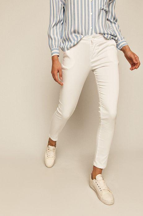 Spodnie damskie chinosy białe