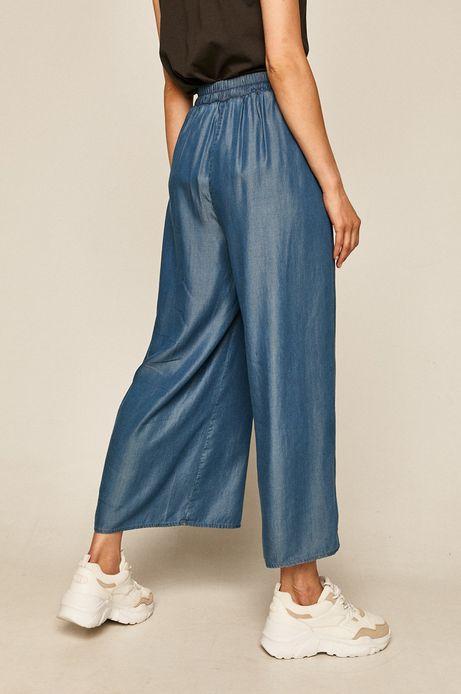 Spodnie damskie culottes z Tencelu niebieskie