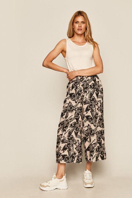 Spodnie damskie lniane beżowe