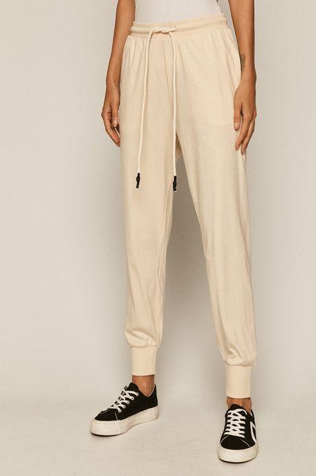Spodnie damskie dresowe beżowe