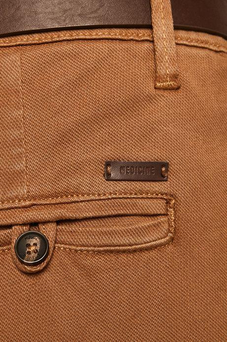 Spodnie męskie slim fit brązowe