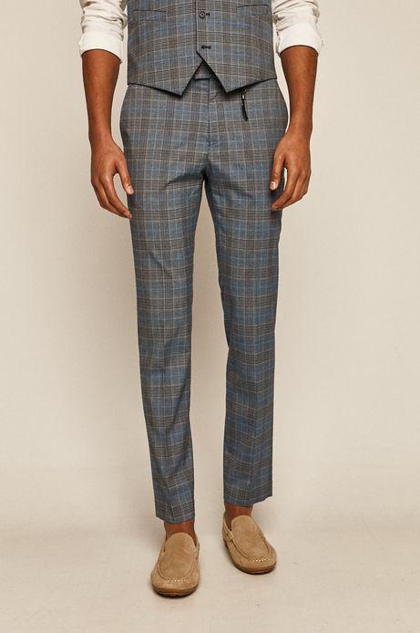 Spodnie męskie w kratkę niebieskie
