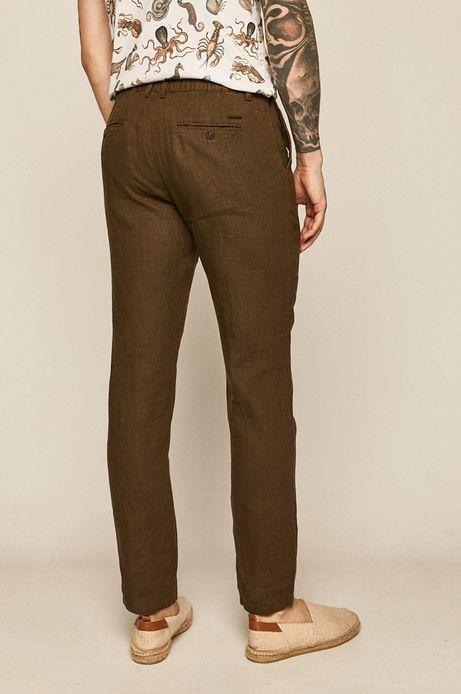 Spodnie męskie lniane zielone