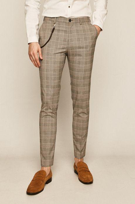 Spodnie męskie w kratkę