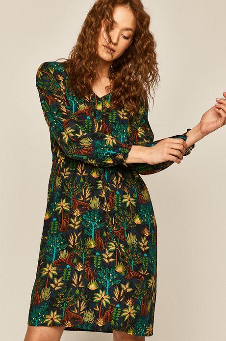 Sukienka damska wzorzysta