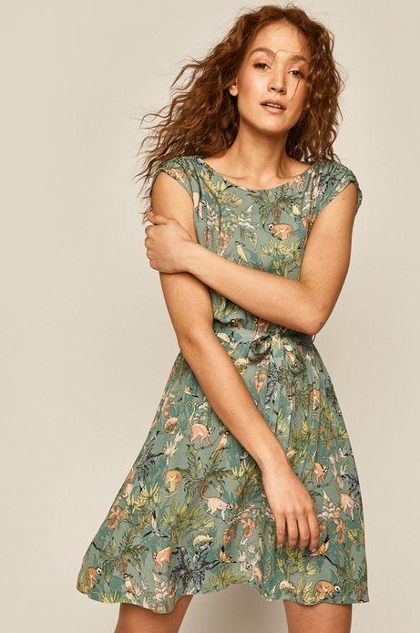 Sukienka damska turkusowa