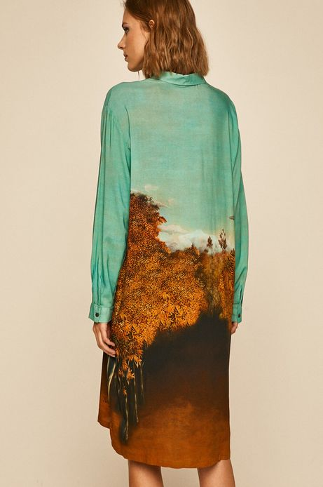 Sukienka damska Eviva L'arte wzorzysta