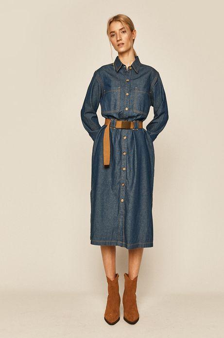 Denimowa sukienka damska niebieska