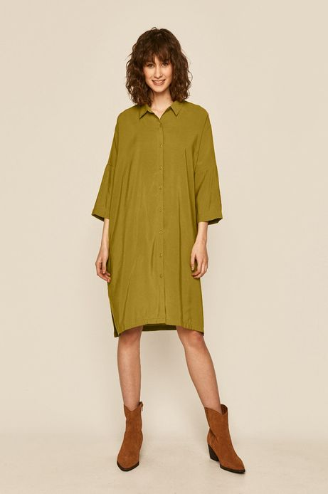 Sukienka damska oliwkowa