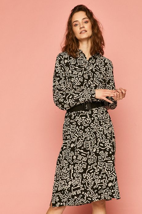 Sukienka damska by Keith Haring czarna