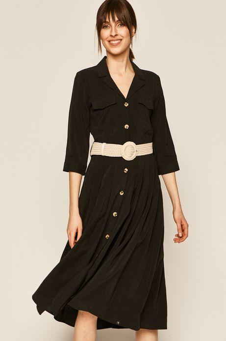 Sukienka damska z guzikami czarna