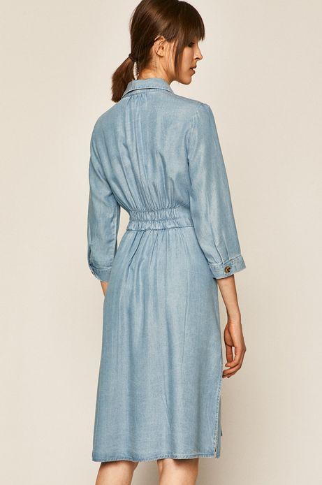 Sukienka damska z Tencelu niebieska