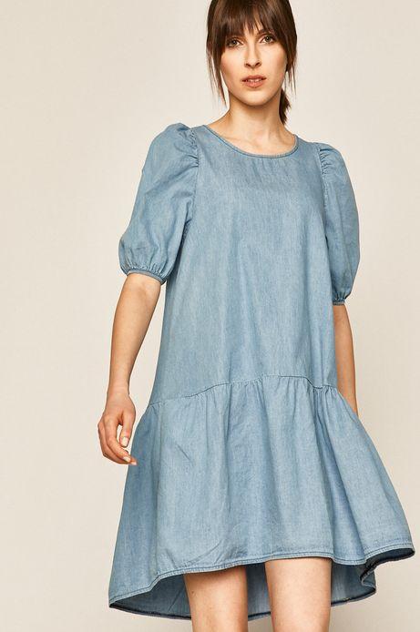 Sukienka jeansowa damska niebieska