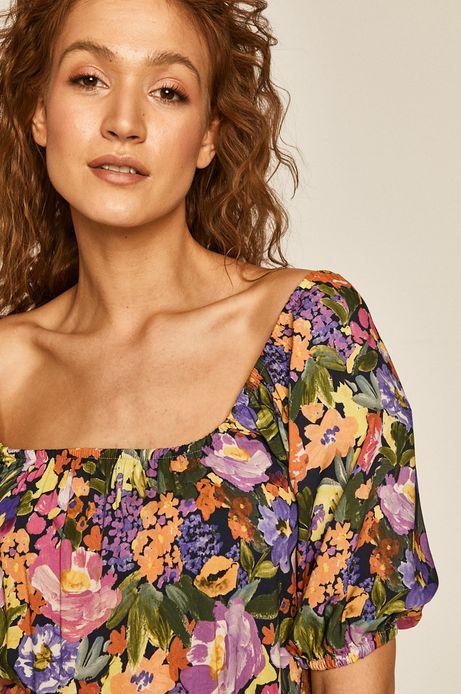 Sukienka damska rozkloszowana w kwiaty