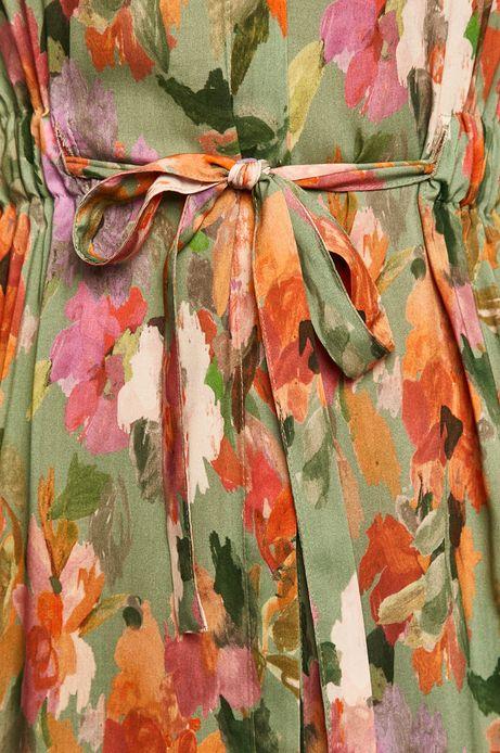 Sukienka damska ściągana w talii wzorzysta