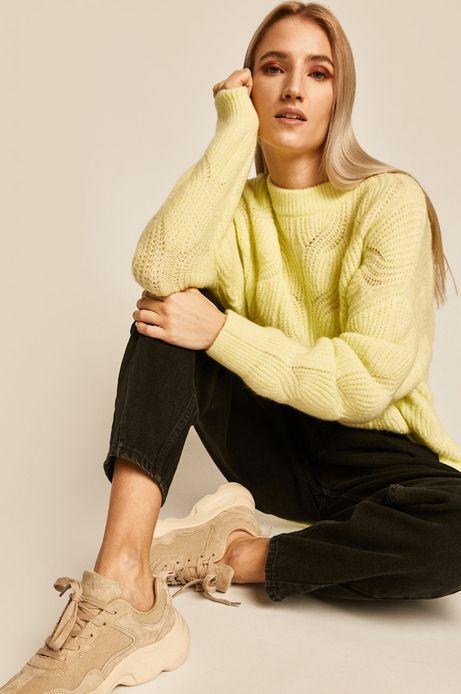 Sweter damski żółty